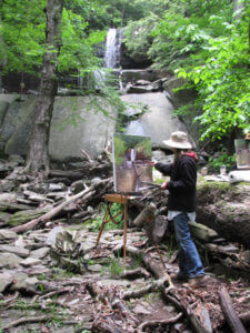 painting at Ashley Falls