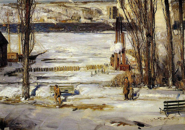 800px-Bellows_George_A_Morning_Snow_Hudson_River_1910