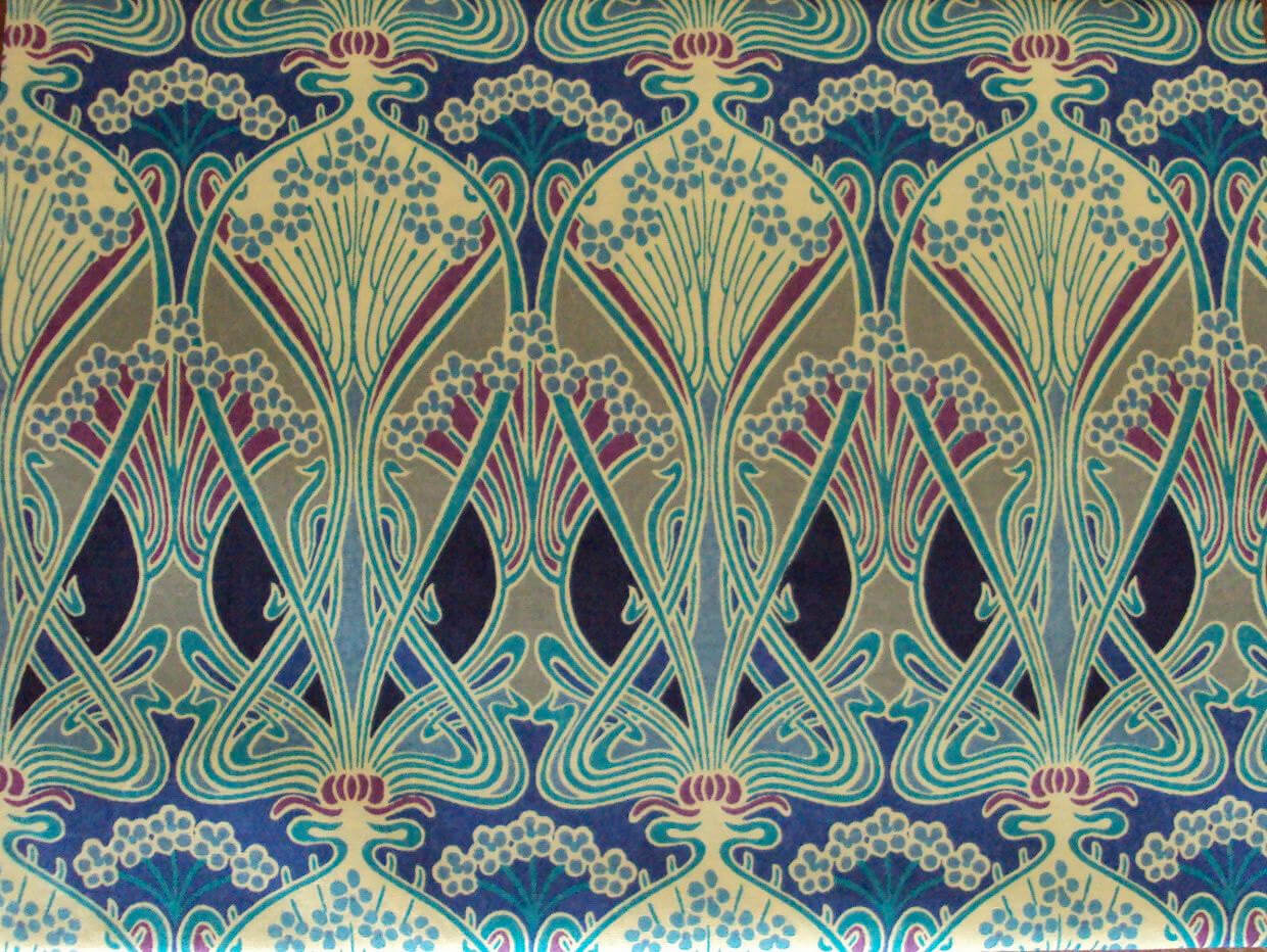 William morris art and labor part 2 attentive equations - Papier peint art nouveau ...