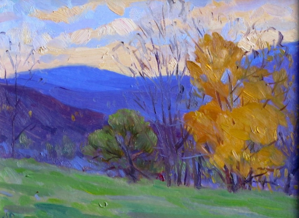 The Last of the Leaves, a painting by Judith Reeve