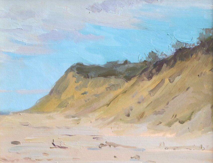 Cape Cliffs, a painting by Judith Reeve