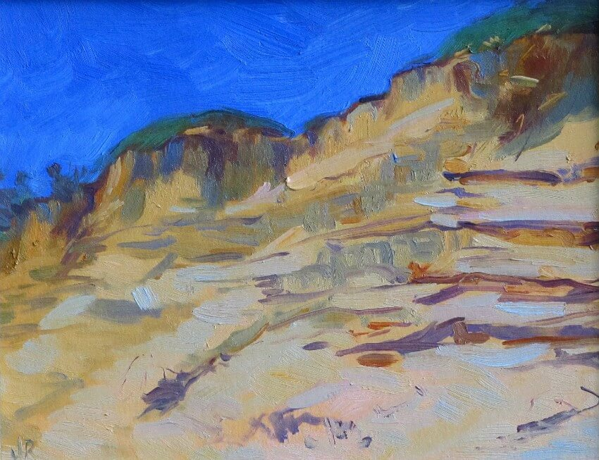 Dune Cliffs, Cape Cod II, a painting by Judith Reeve