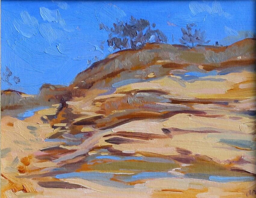 Dune Cliffs, a painting by Judith Reeve