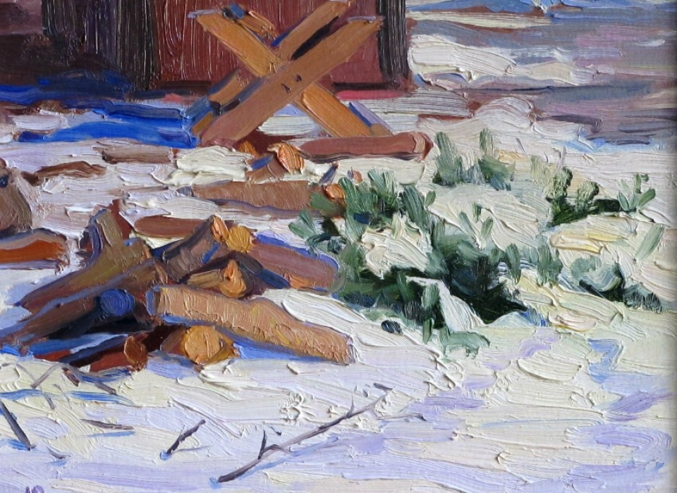Firewood, a painting by Judith Reeve