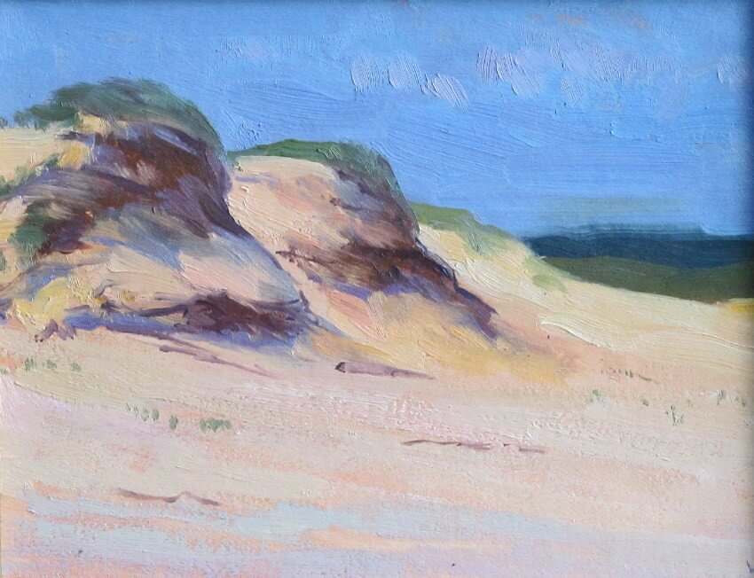 Head of the Meadow, Cape Cod, a painting by Judith Reeve