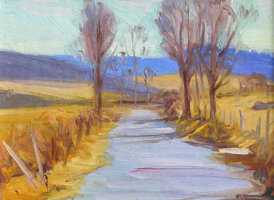 Pleasant Valley Road, a painting by Judith Reeve