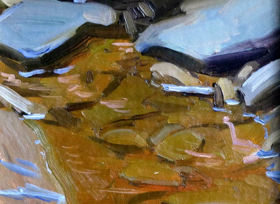 Pool, Plattekill, a painting by Judith Reeve