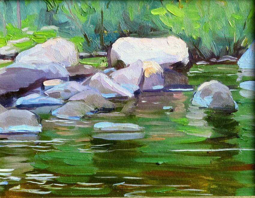 River Rocks, a painting by Judith Reeve