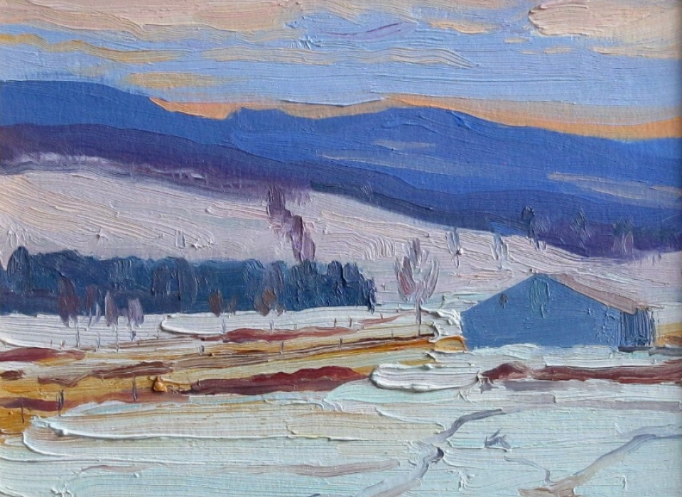 Spring Snow, a painting by Judith Reeve